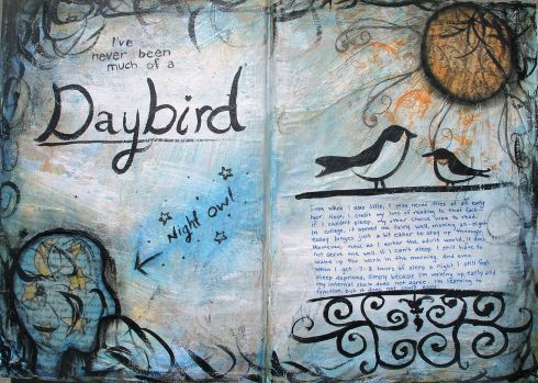 night owl art journal